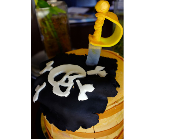 Tarta barril pirata