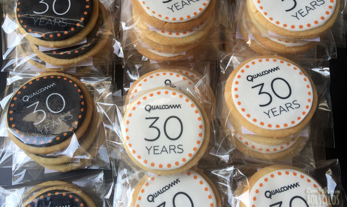 Galletas corporativas Qualcomm 30 years