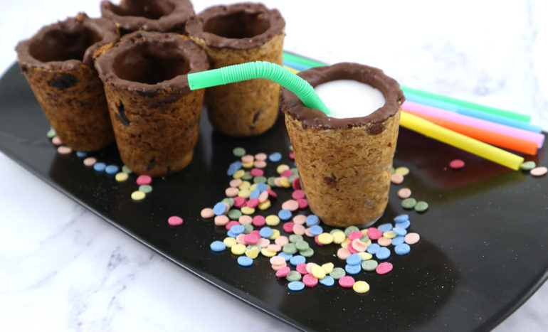 Receta vasitos de galleta y chocolate
