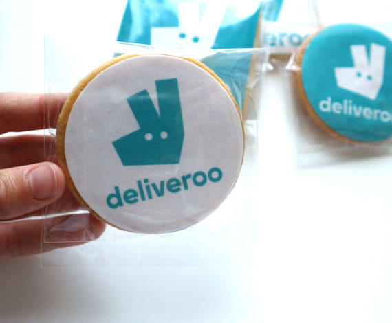 Galletas corporativas Deliveroo