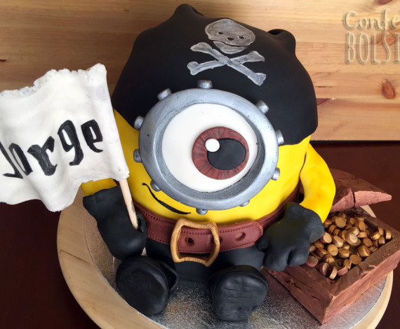 Tarta Minion Pirata 3D