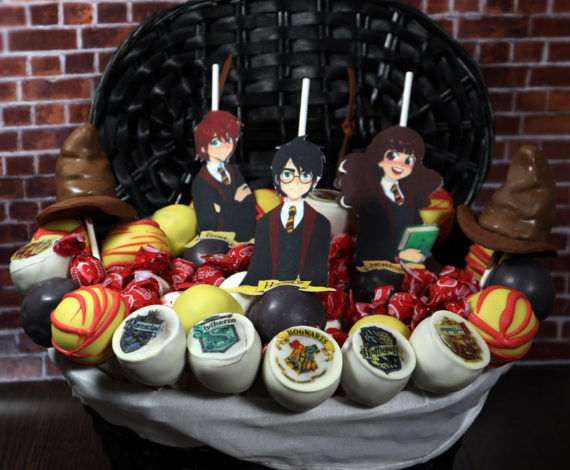 Cesta cakepops Harry Potter